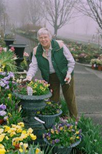 Ruth Clausen at White Flower Farm, Litchfield, CT