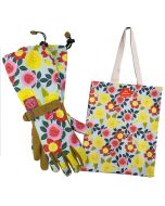 Heirloom Garden Gloves and Tote Bag Gift Set