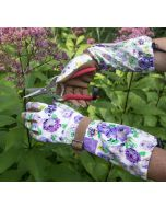 Purple Floral Arm Saver Gloves