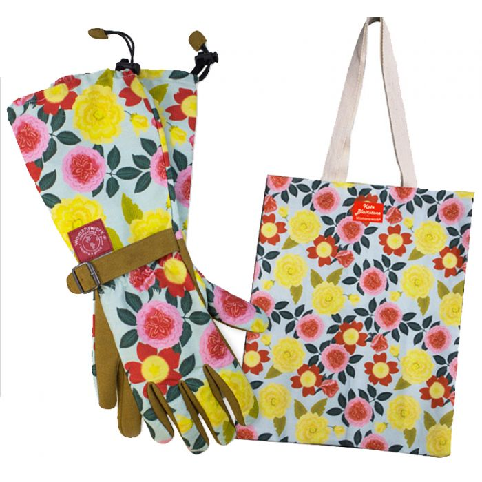 Heirloom Garden Gloves and Tote Bag Gift Set