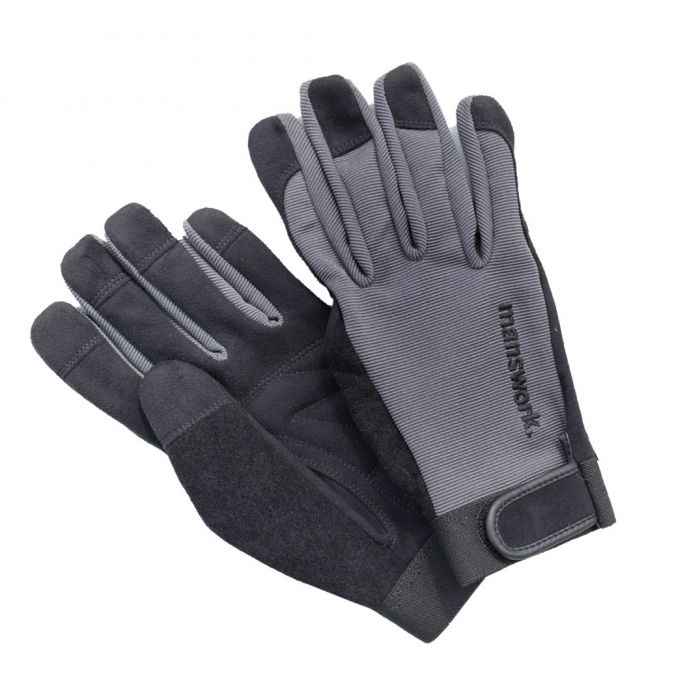 Manswork Synthetic Leather Gloves - Gray